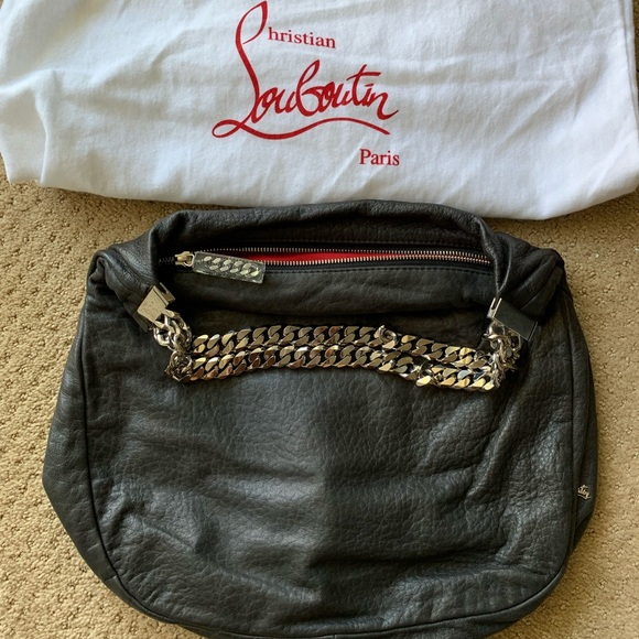 6c3d4ae0cd8 Christian Louboutin black leather handbag